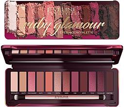 Духи, Парфюмерия, косметика Палетка теней для век - Eveline Cosmetics Ruby Glamour Eyeshadow Palette
