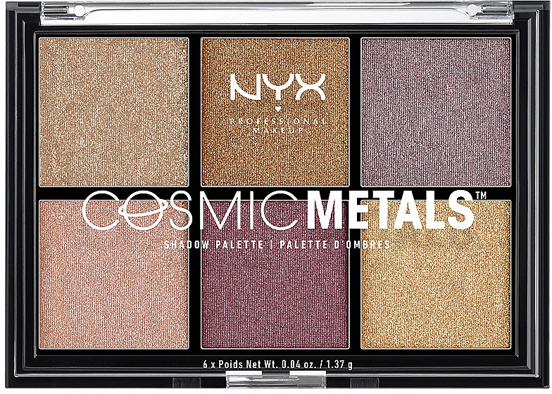 Палетка теней - NYX Professional Makeup Cosmic Metals Shadow Palette