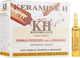 Духи, Парфюмерия, косметика Ампулы для укрепления волос, белые - Keramine H Ampoules
