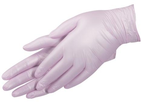 Перчатки нитриловые, без пудры, перламутровые розовые, размер XS - Prestige Medical