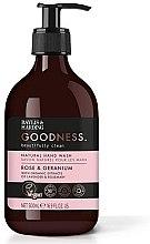 Духи, Парфюмерия, косметика Жидкое мыло для рук - Baylis & Harding Goodness Rose & Geranium Natural Hand Wash