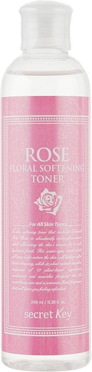 Тонизирующий тонер для лица - Secret Key Rose Floral Softening Toner