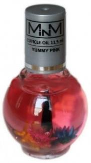Масло для кутикулы с кистью и сухоцветами барбарис - M-in-M Yummy Pink