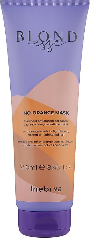 Маска для окрашенных волос, против оранжевого цвета - Inebrya Blondesse No-Orange Mask