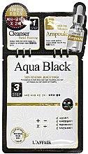 Духи, Парфюмерия, косметика 3-ступенчатая процедура для восстановления кожи - Rainbow L'Affair 3-Steps Skin Renewal Face Mask Aqua Black