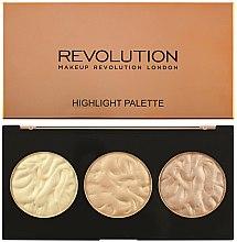 Духи, Парфюмерия, косметика Палетка хайлайтеров для лица - Makeup Revolution Highlighter Palette