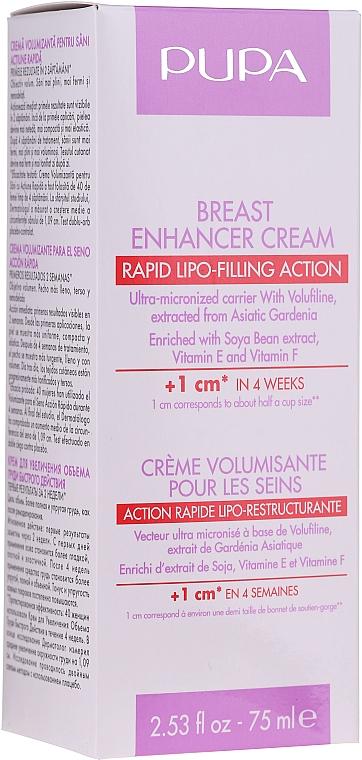 Крем для увеличения объема груди - Pupa Rapid Action Breast Enhancer