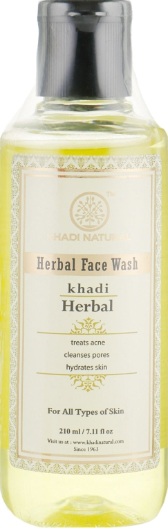 Травяной анти-акне гель для умывания лица - Khadi Natural Neem & Teatree Face Wash