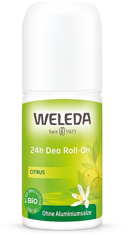 "Дезодорант шариковый ""Цитрус"" - Weleda 24h Citrus Deodorant Roll-On"