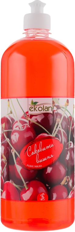 "Жидкое мыло ""Сочная вишня"", пуш-пул - EkoLan"