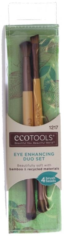 Набор кистей для макияжа, 2шт - EcoTools Eye Enhancing Eyeshadow Brush Duo