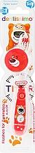 Духи, Парфюмерия, косметика Детская зубная щетка (от 3 до 6 лет) мягкая щетина, красная - Dentissimo Kids Timer