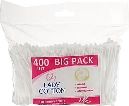 Духи, Парфюмерия, косметика Ватные палочки в полиэтиленовом пакете, 400 шт. - Lady Cotton