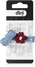 "Духи, Парфюмерия, косметика Заколка для волос ""Бантик с цветком"", d-530 - Dini Hand Made"