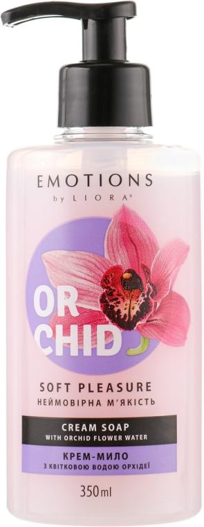 """Крем-мыло """"Невероятная мягкость"""" с цветочной водой орхидеи - Liora Emotions Soft Pleasure Cream Soap"""