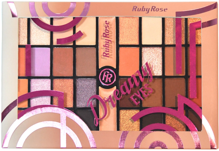 Палетка теней для век, 32 оттенка - Ruby Rose Eyeshadow Palette Dreamy Eyes