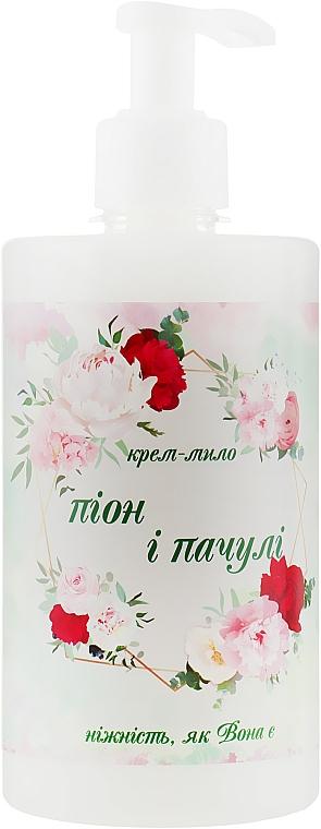 """Крем-мыло """"Пион и пачули"""" для тела с дозатором - Армони"""
