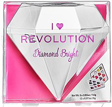 Духи, Парфюмерия, косметика Палетка теней для век, 20 оттенков - I Heart Revolution Diamond Bright Palette