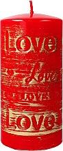 Духи, Парфюмерия, косметика Декоративная свеча красная, 7х14см - Artman Lovely