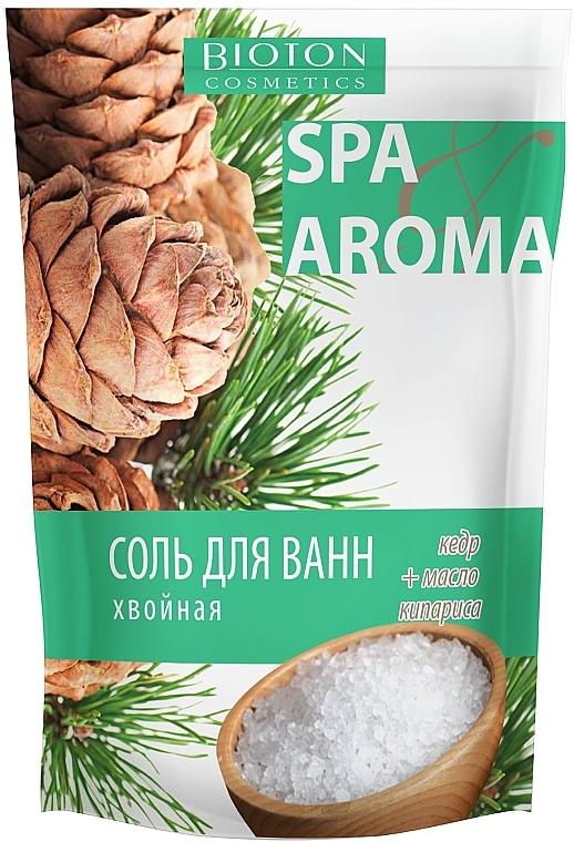 Морская соль хвойная для ванн с эфирными маслами кедра и кипариса - Bioton Cosmetics Sea Salt