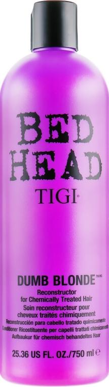 Восстанавливающий кондиционер для поврежденных волос - Tigi Bed Head Dumb Blonde Conditioner