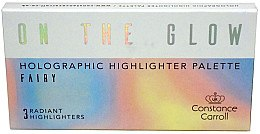 Палетка хайлайтеров с голографическим эффектом - Constance Carroll On The Glow Holographic Highlighter Palette — фото N1