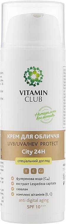 Крем для лица UV / UVA / HEV PROTECT City 24H - VitaminClub