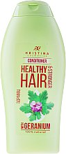 "Парфумерія, косметика Кондиціонер для волосся ""Герань"" - Hristina Cosmetics Healthy Hair Conditioner"