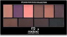 Духи, Парфюмерия, косметика Палитра теней для век - Malva Cosmetics Studio Pop Eyes Collection Eyeshadow