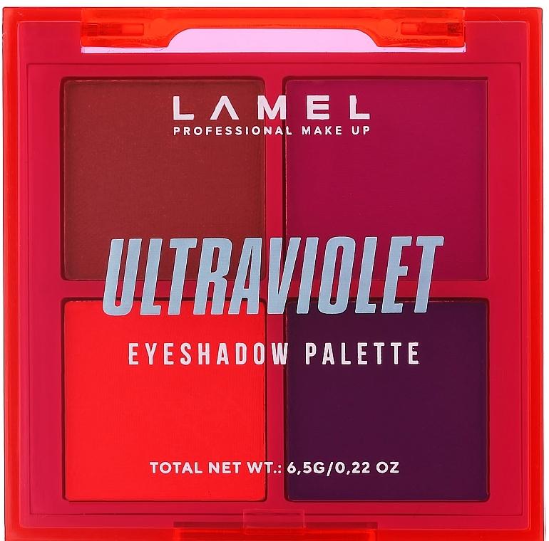 Набор теней для век - Lamel Professional Neon Ultraviolet Eyeshadow Palette