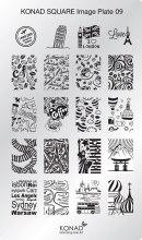 Духи, Парфюмерия, косметика Мини пластина для стемпинга - Konad Square Image Plate