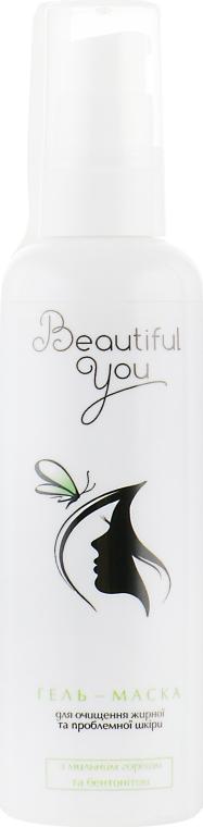 Гель-маска с корнем мыльного ореха и бентонитом, для жирной и проблемной кожи - Beautiful You