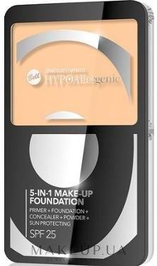 Тональный крем для лица 5в1 - Bell Hypoallergenic Make-up Fondation SPF 25 — фото 01 - Natural