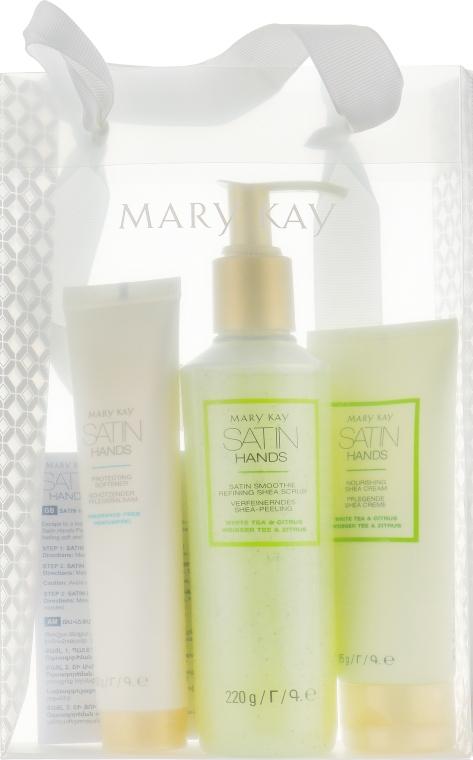 Набор - Mary Kay Satin Hands White Tea & Citrus (h/scrub/220g + h/cr/85g+h/softener/60g)