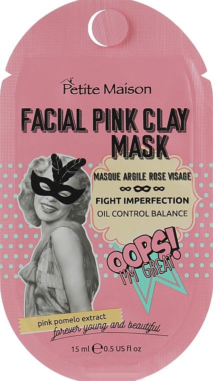 Очищающая маска для лица с розовой глиной - Petite Maison Facial Pink Clay Mask