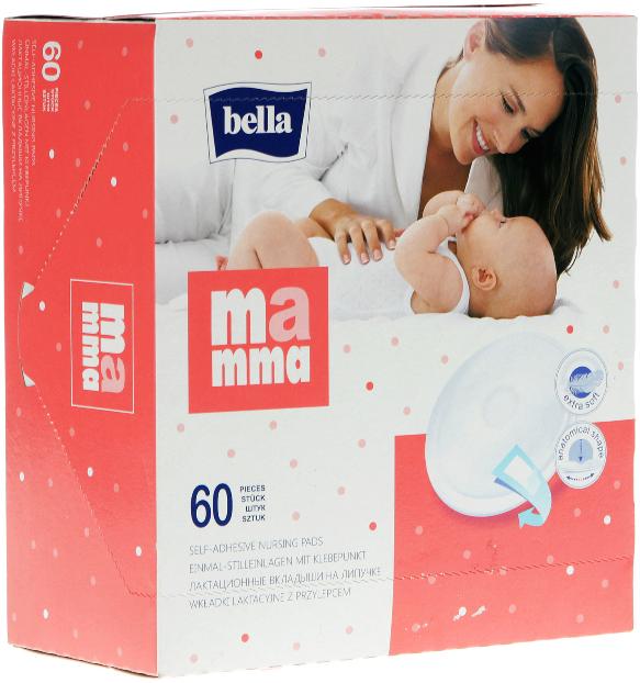 Лактационные вкладыши Bella Mamma, на липучке, 60 шт - Bella Baby