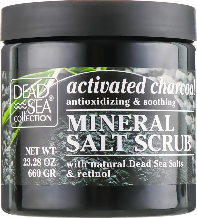 Скраб для тела с активированным углем, ретинолом и минералами - Dead Sea Collection Activated Charcoal & Retinol Salt Scrub