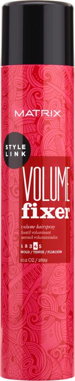 Спрей для додання обсягу волоссю - Matrix Style Link Volume Fixer Volumizing Hairspray — фото N1