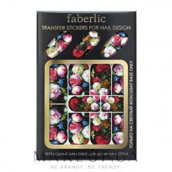 Переводные наклейки для дизайна ногтей - Faberlic Transfer Stickers For Nail Design — фото Зимние цветы
