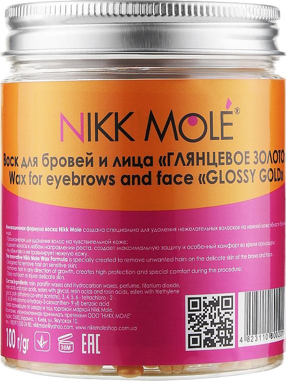 """Перламутровый воск для бровей и лица """"Глянцевое золото"""" - Nikk Mole Wax For Eyebrows And Face Glossy Gold"""