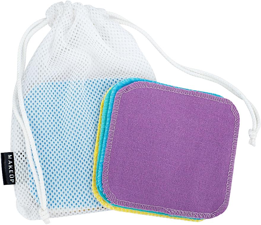 """Спонжики многоразовые для демакияжа в мешочке для стирки """"ToFace"""" - Makeup Remover Sponge Set Multicolour & Reusable"""