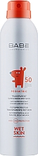 Духи, Парфюмерия, косметика Детский солнцезащитный спрей прозрачный водостойкий с матирующим эффектом SPF50 + - Babe Laboratorios Pediatric Wet Skin