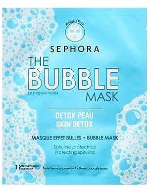 """Маска пузырьковая """"Кислородное насыщение и детокс-эффект"""" - Sephora Bubble Mask Detoxyfying Oxygenating — фото N1"""