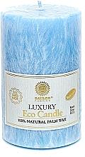 Духи, Парфюмерия, косметика Свеча из пальмового воска, 12.5 см, голубая - Saules Fabrika Luxury Eco Candle