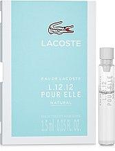 Lacoste Eau De L.12.12 Pour Elle Natural - Туалетная вода (пробник) — фото N1