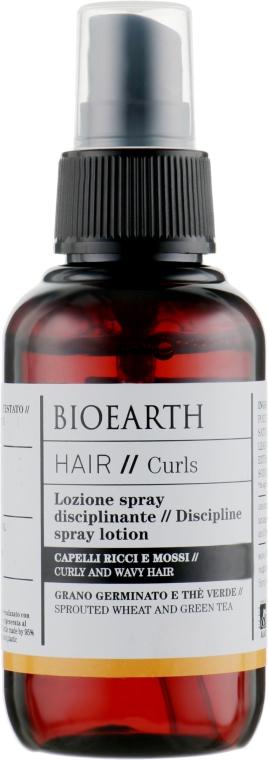 Спрей для укладки волнистых волос - Bioearth Hair Hair-Taming Spray-Lotion