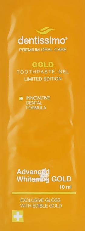 Зубная паста-гель для отбеливания зубов - Dentissimo Advanced Whitening Gold (пробник)