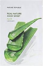 Духи, Парфюмерия, косметика Тканевая маска с экстрактом Алоэ - Nature Republic Real Nature Aloe Mask Sheet