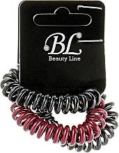 Духи, Парфюмерия, косметика Набор резинок для волос, 405004, черная+сливовая+черная - Beauty Line