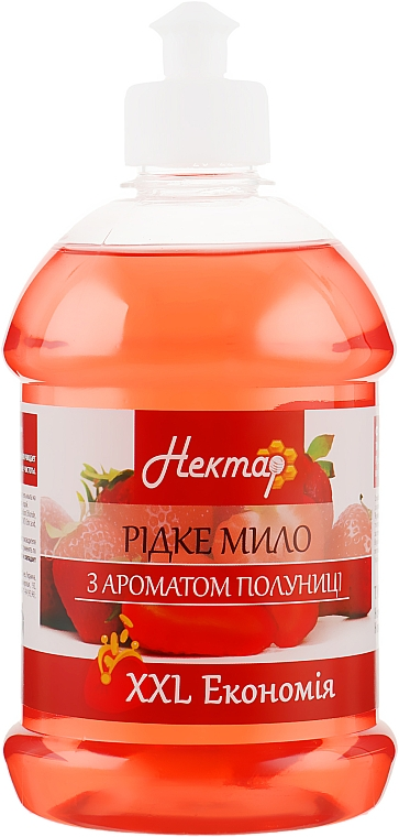 """Жидкое мыло """"С ароматом клубники"""", пуш-пул - Aqua Cosmetics Нектар"""